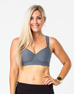 Cute Nursing Bras - Sweetheart Bra Charcoal