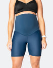 front view of woman wearing aspen high waisted bike shorts