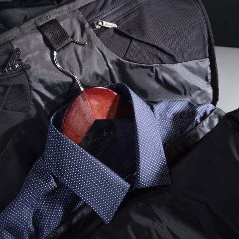 TRAVEL BACKPACK w/ INTEGRATED SUITER