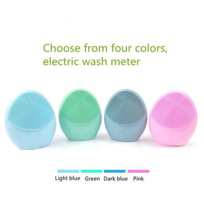 Facial Cleansing Brush Mini Battery Type Silicone Cleaner Deep Pore Cleaning Waterproof Beauty Skin Massage