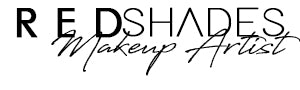 red shades makeup artist logo