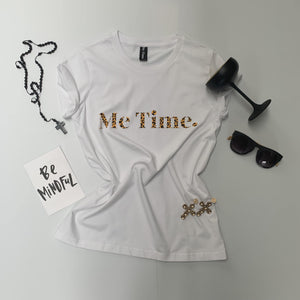 Me Time. Raff Tee - White Signature - Me Time. Just For Me
