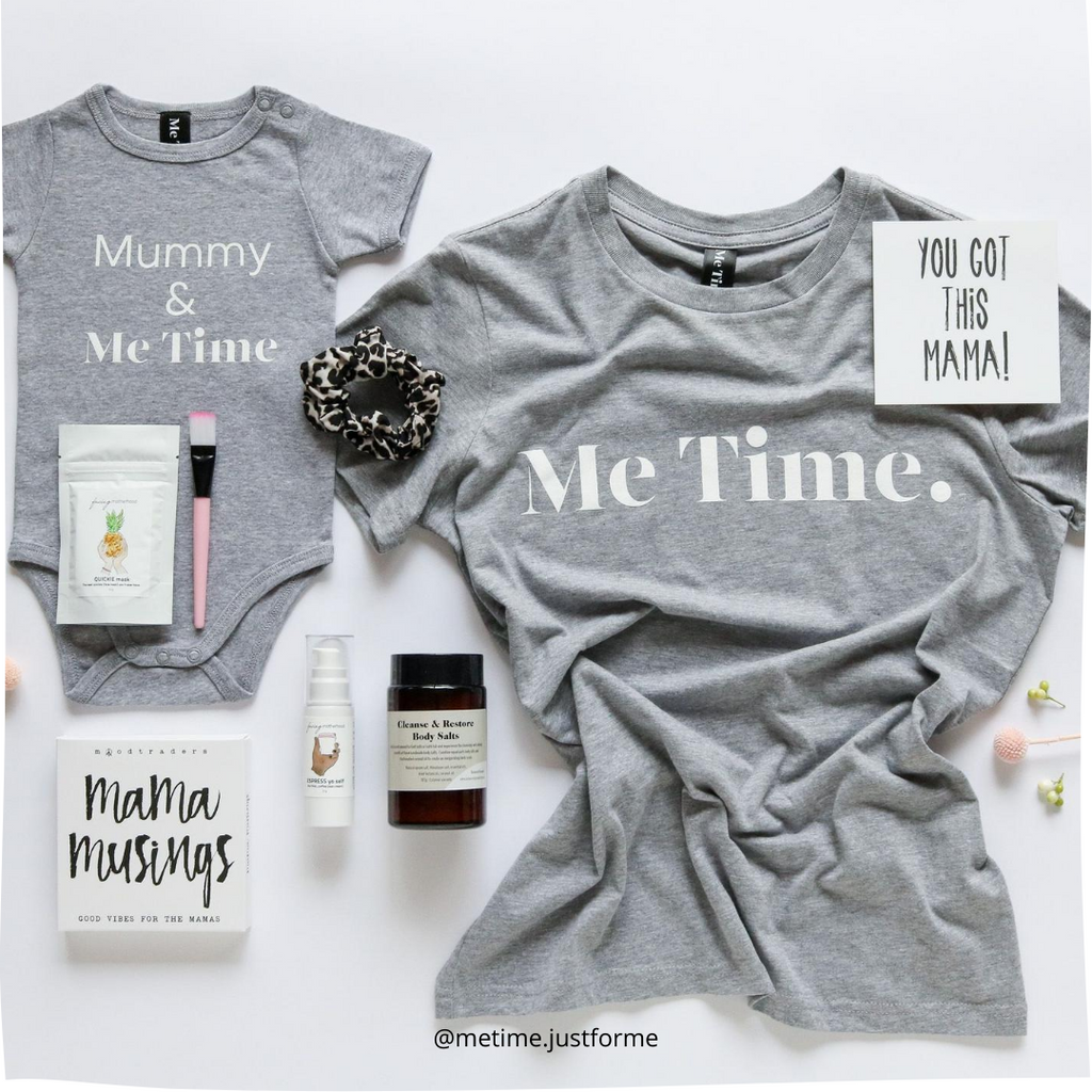 Me Time. Raff Tee - Grey Marle