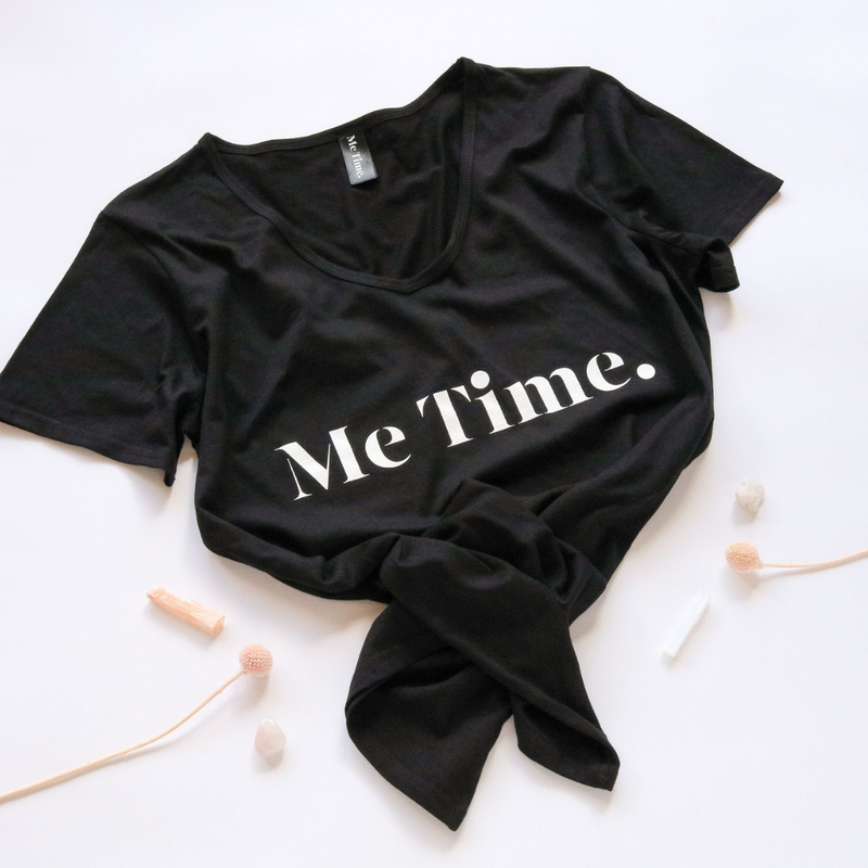 Me Time. Ella Tee - Black - Me Time. Just For Me