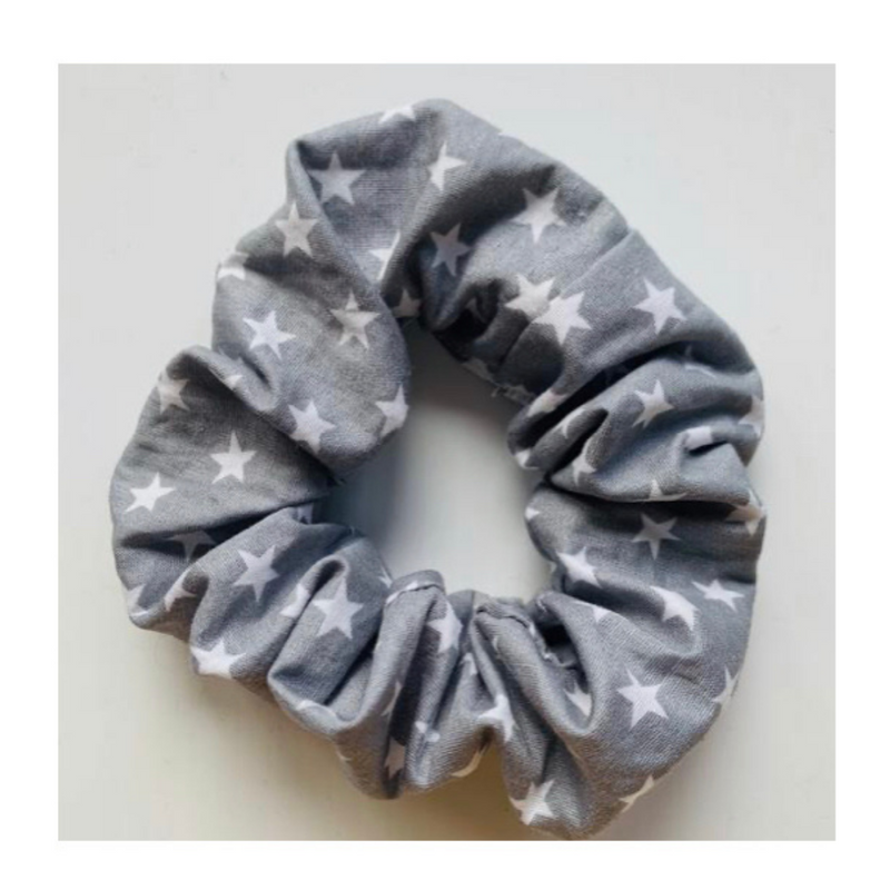 Me Time. Secure Me Scrunchie - Grey Star - Me Time. Just For Me