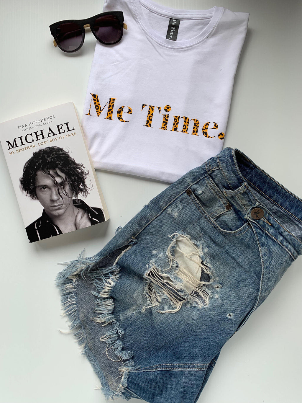 Me Time. Long Sleeve Cool Down Tee - White Signature - Me Time. Just For Me