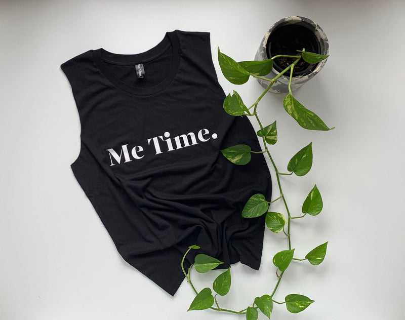 Me Time. Charlie Tank - Black