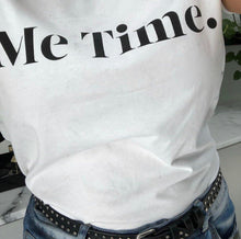 Load image into Gallery viewer, Me Time. Raff Tee - White
