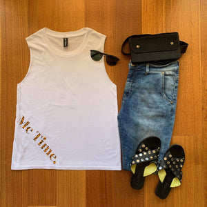 Me Time. Sonny Tank - White Signature - SALE