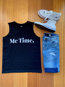 Me Time. Summer Tank Youth - Black