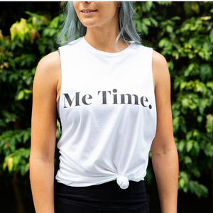 Me Time. Let Loose Tank - White - SALE