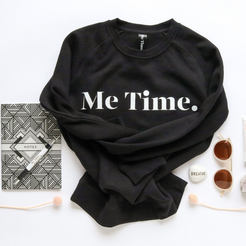 Me Time. Summer Sweater - Black