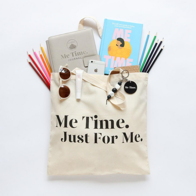 Me Time. Serenity Canvas Tote