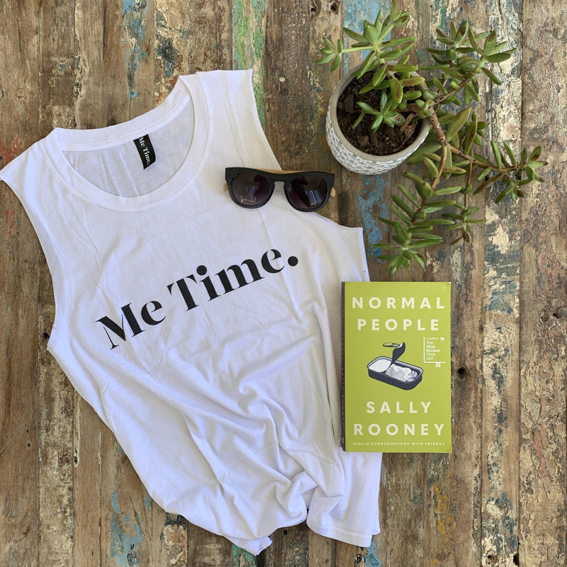 Me Time. Charlie Tank - White