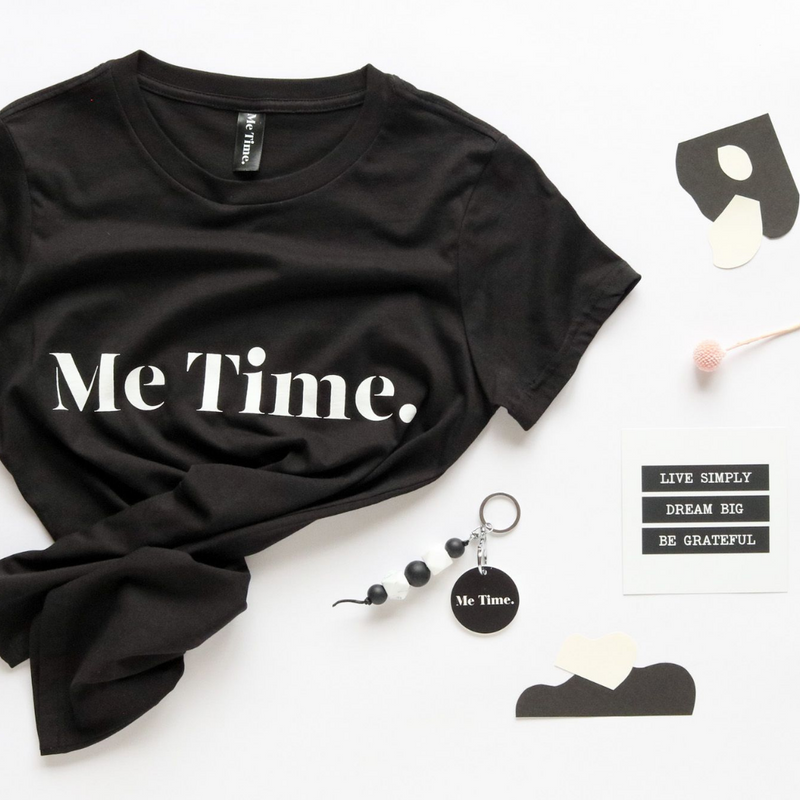 Me Time. Raff Tee - Black - Me Time. Just For Me