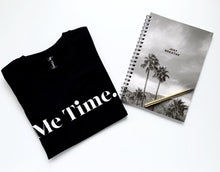 Load image into Gallery viewer, Me Time Charlie Logo Tank Tee Black