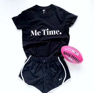 Me Time Youth Raff Tee  Black