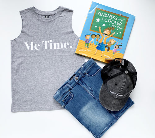 Me Time Youth Summer Tank Marle Grey