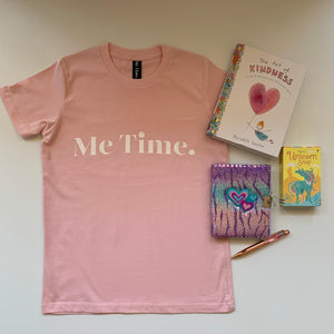 Me Time. Youth Raff Tee - Pink - Me Time. Just For Me