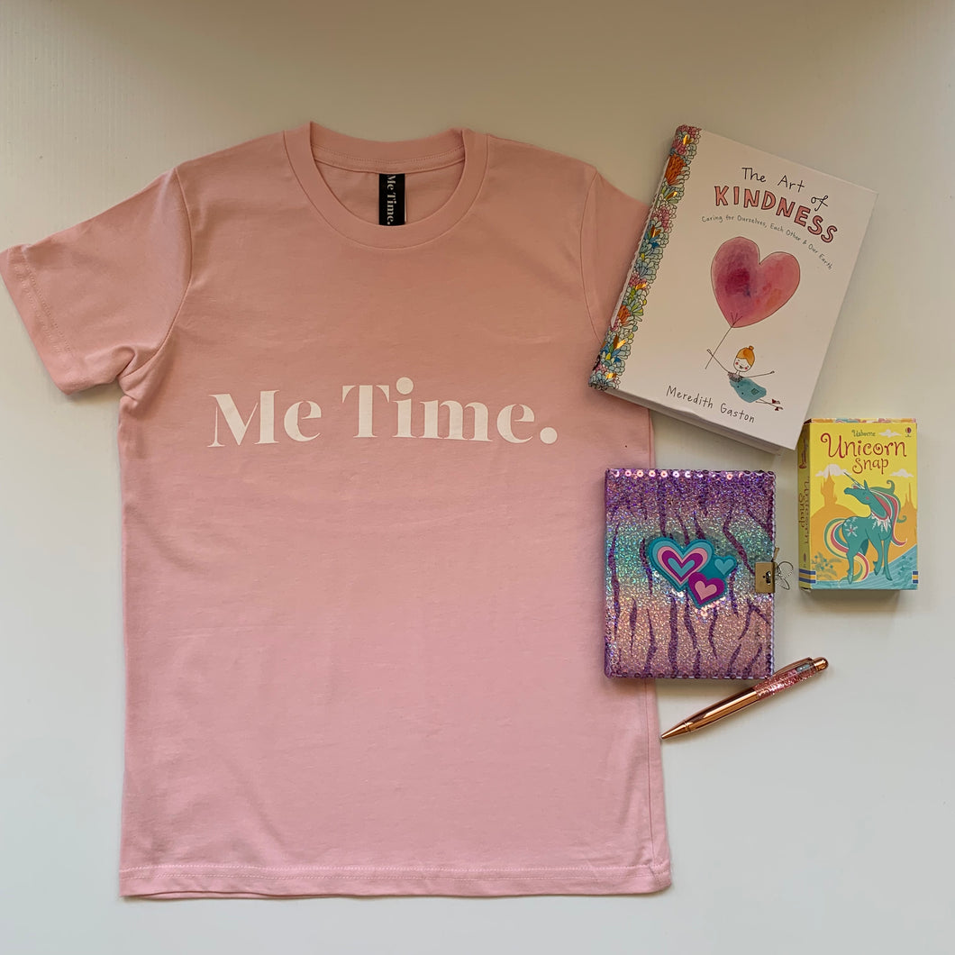 Me Time. Youth Raff Tee - Pink