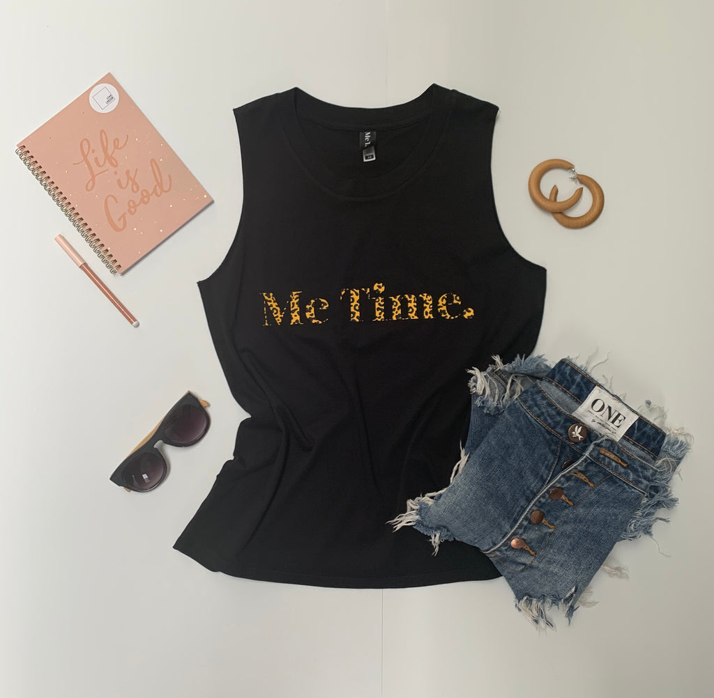 Me Time. Charlie Tank - Black Signature