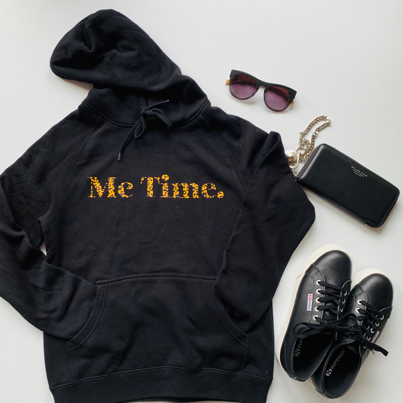 Me Time. Hug Me Hoody - Black Signature