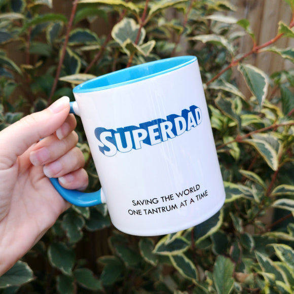 Superdad Blue Ceramic Mug