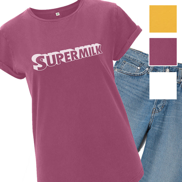Supermilk Normalise Breastfeeding Organic Cotton Ladies T-shirt