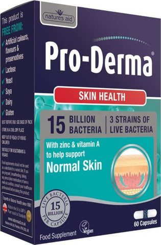 NATURES AID- PRO-DERMA (15 Billion Bacteria) 60 CAP