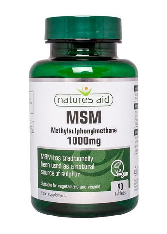 NATURES AID- MSM 100O MG -90 CAP