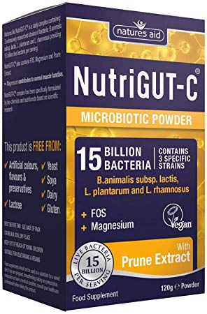 NATURES AID- NUTRIGUT-C 15 Billion Bacteria) 120G POWDER