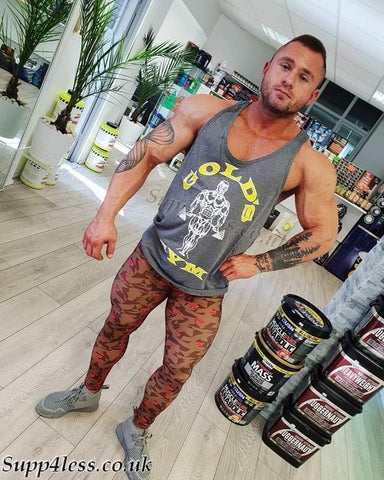 GOLDS GYM VEST GREY