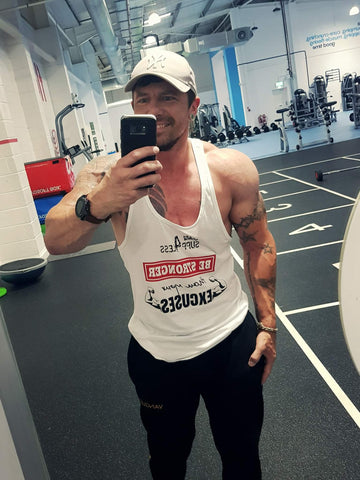 STRONGER THAN EXCUSES SUPP4LESS VEST WHITE