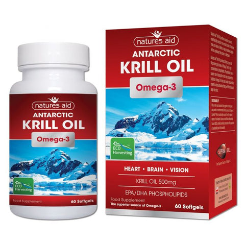 NATURES AID ANTARCTIC KRILL OIL OMEGA 3 60 SOFTGELS