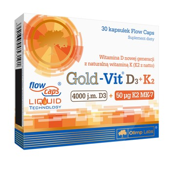 OLIMP NUTRITION GOLD-VIT D3+K2 30 CAPSULES