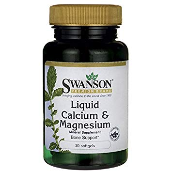 SWANSON LIQUID CALCIUM&MAGNESIUM 30 SOFTGELS