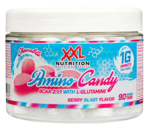 XXL NUTRITION AMINO CANDY BLUEBERRY 90 CHEWABLE TABLETS