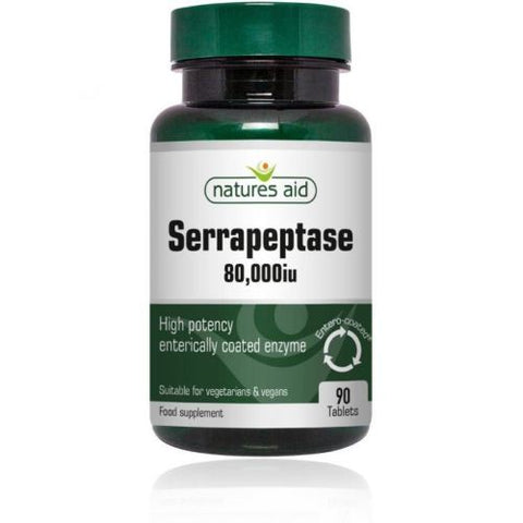 NATURES AID SERRAPEPTASE 80,000 IU 90 TABLETS