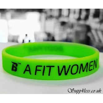 SILICONE WRISTBAND GREEN 'FIT WOMEN'