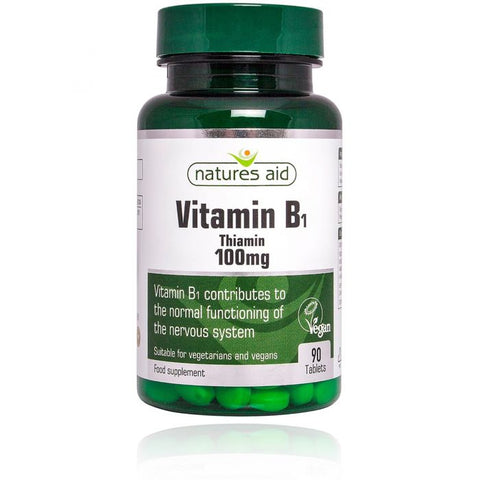 NATURES AID VITAMIN B1 THIAMIN 100MG (90 TABLETS)