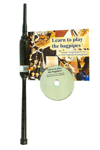 Kilberry Bagpipes Practice Chanter Kit - African Blackwood Practice Chanter