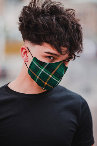 Celtic FC Official Tartan Face mask - Form Fitting - Kilberry Bagpipes