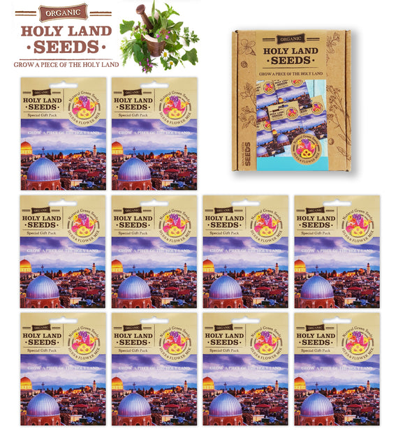 HOLY LAND Greeting Cards gift box. with holy land seeds.