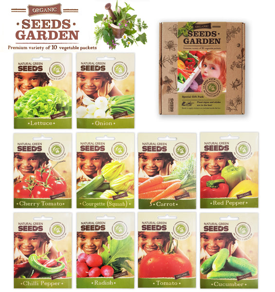 VEGETABLE SEEDS 100% CERTIFIED ORGANIC