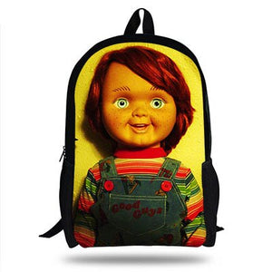 16-Inch Newest Horror Doll Chucky&Saw Backpacks