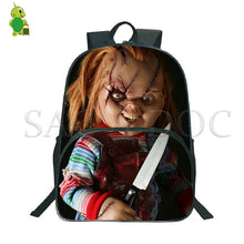 Load image into Gallery viewer, Horror Chucky Printed Backpack School Bags for Teenage Boys Girls Students Large Capacity Book Bags Women Men Travel Backpack
