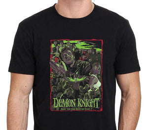 Print Tee Shirts Design Short Sleeve Knight Demons Vintage Horror Movie Poster T Shirts For Men
