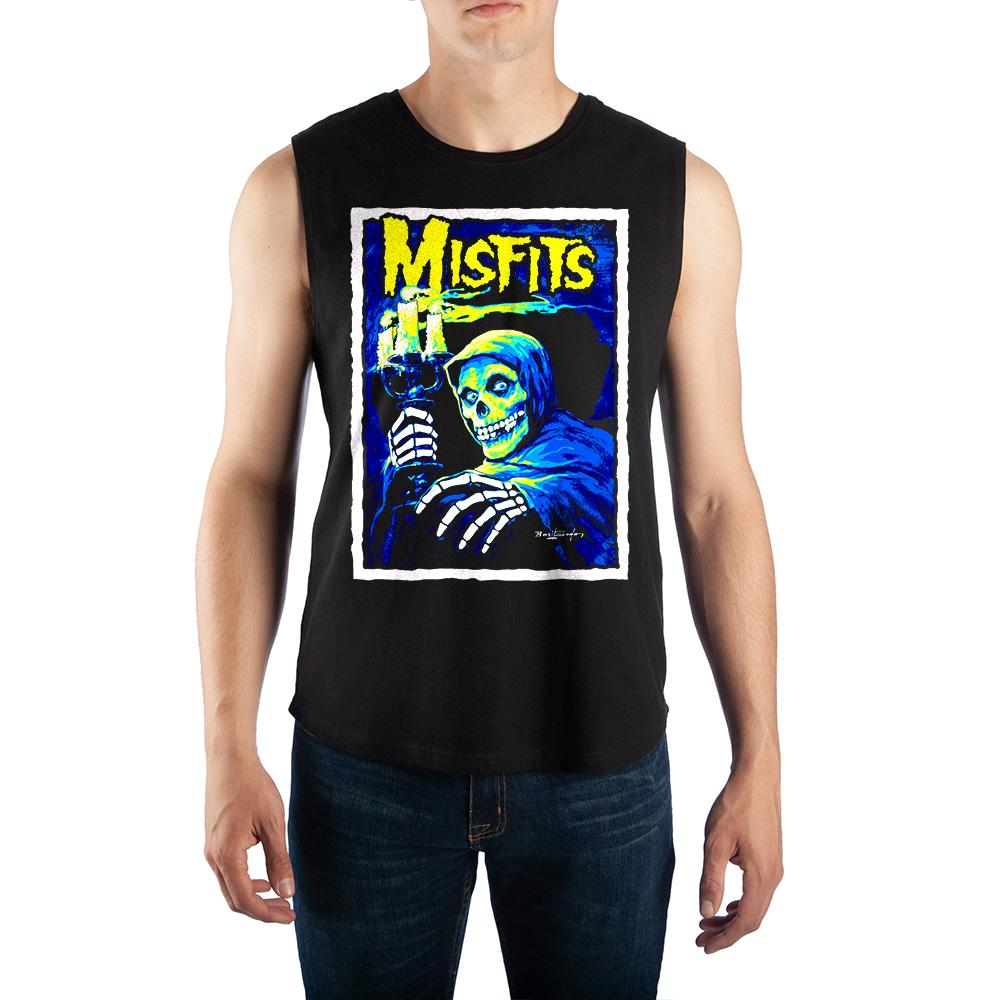Mens Misfits Muscle Tee Misfits Band Tee (THIS ITEM SHIPS FROM AND ONLY TO USA)