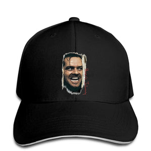 Men Baseball Cap The Shining - Heres Johnny!Men'ss  in kubric horror movie poster jack nicholson Men Baseball Cap Snapback Cap