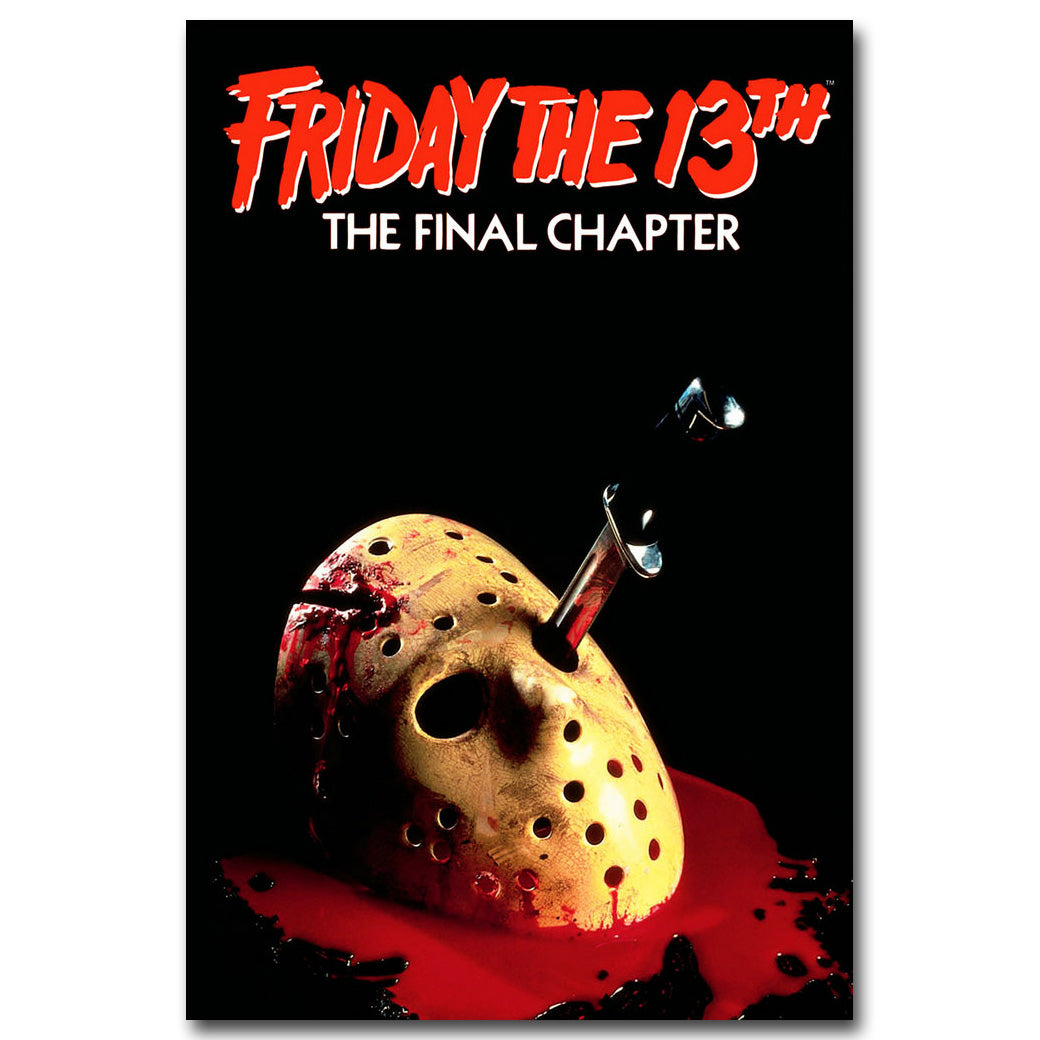 Friday The 13th Art Silk Poster Print 13x20 24x36 inch Jason Voorhees Classic Horror Movie Picture for Room Wall Decor 005